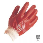 PVC Red Knit Wrist Gloves