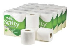 Triple Softy Toilet Roll White 3ply Case of 45