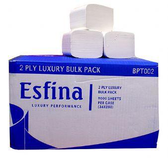 Esfina Bulk Pack 2 Ply White Toilet Tissues  BPT002
