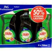 Fairy Washing up liquid 750ML x 6