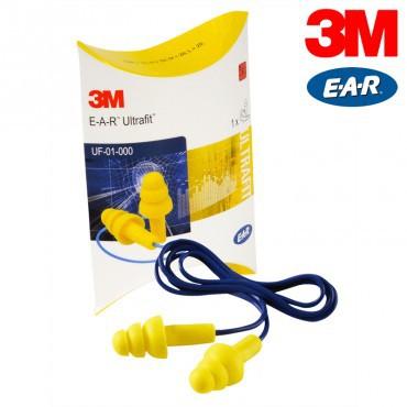 3M EAR Ultrafit Moulded Ear Plugs Pack of 50
