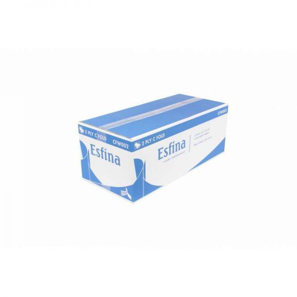 Esfina C Fold Hand Towels Green 1 ply 2688 per case