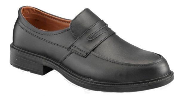 S55 Black Leather Slip-on Shoe