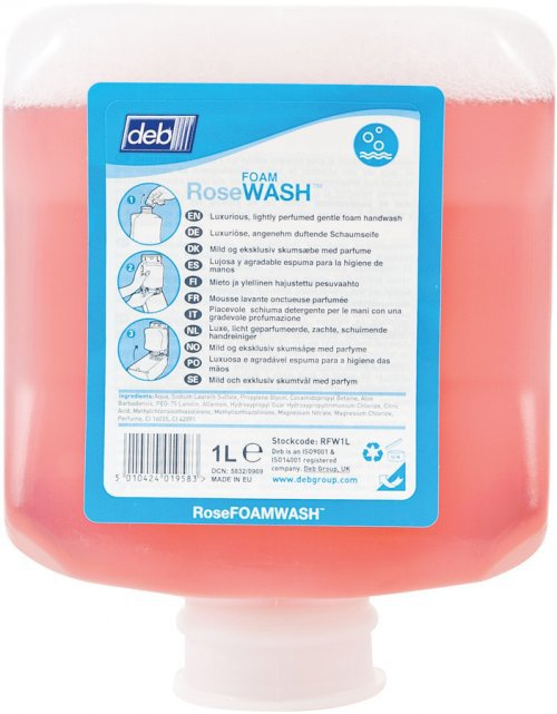 Deb Rose Foam Hand Wash 6 x 1ltr Case