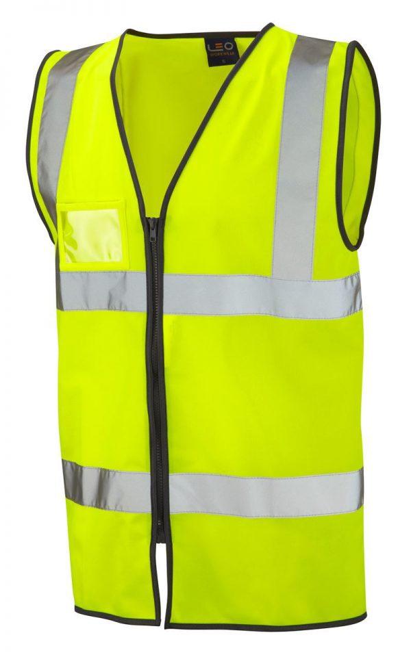 Hi Vis  Rumsam Zip Front Waistcoat Yellow