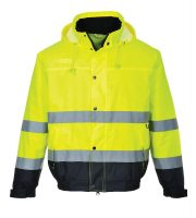 S266- Hi Vis Two tone Bomber Jacket